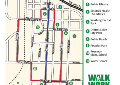 Detroit Lakes walking map 3