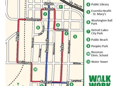 Detroit Lakes walking map 3
