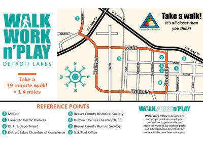 Detroit Lakes walking map 1