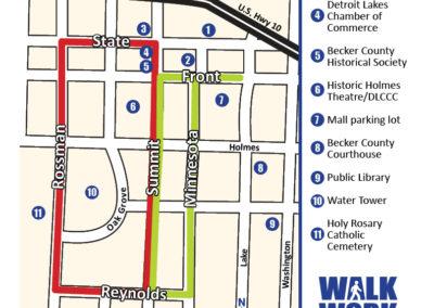 Detroit Lakes walking map 5