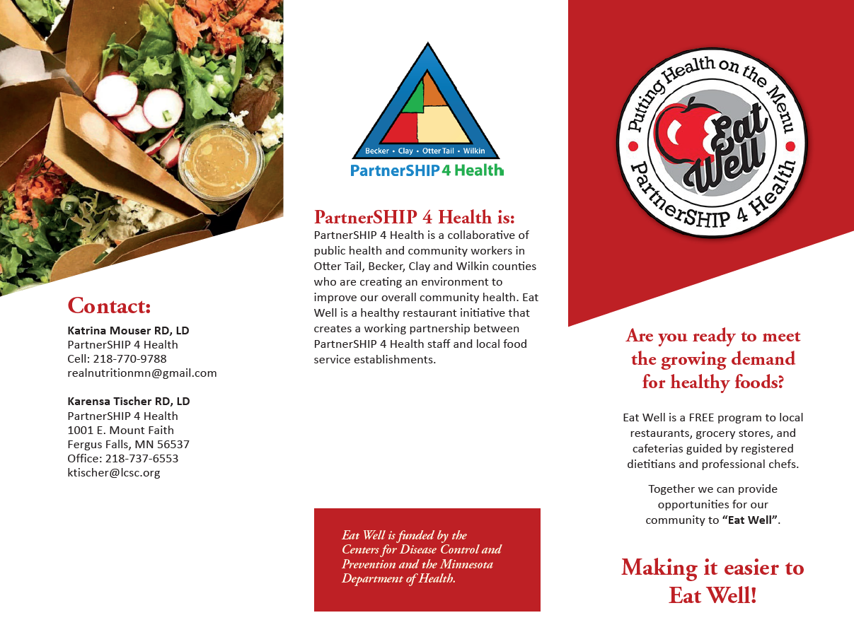 eat well brochure page 1